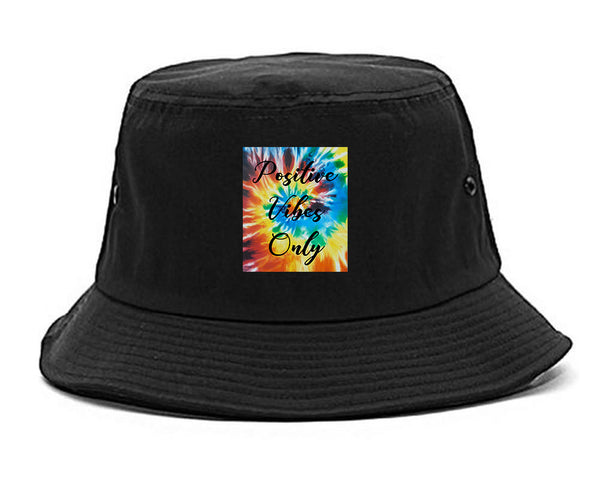 Hippie Positive Vibes Only Dye black Bucket Hat