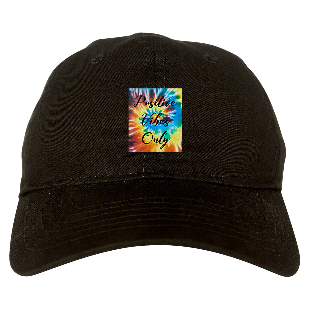 Hippie Positive Vibes Only Dye black dad hat
