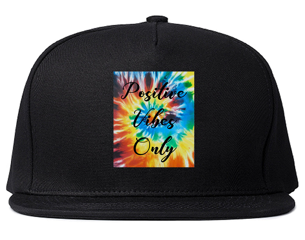 Hippie Positive Vibes Only Dye Black Snapback Hat