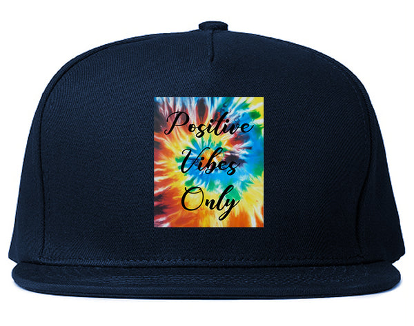 Hippie Positive Vibes Only Dye Blue Snapback Hat