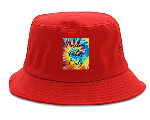 Hippie Positive Vibes Only Dye red Bucket Hat