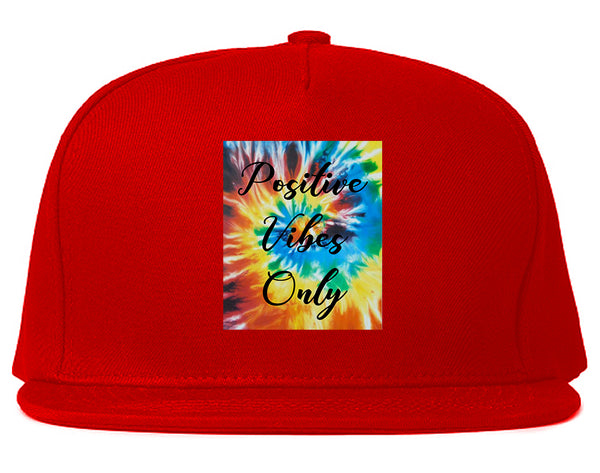 Hippie Positive Vibes Only Dye Red Snapback Hat