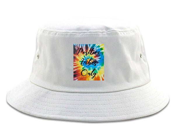 Hippie Positive Vibes Only Dye white Bucket Hat