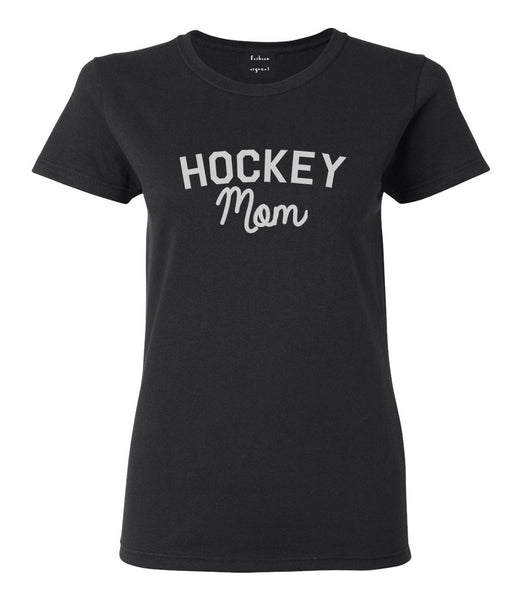 Hockey Mom Sports Womens Graphic T-Shirt Black