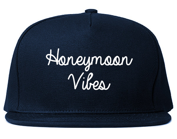 Honeymoon Vibes Bride Blue Snapback Hat