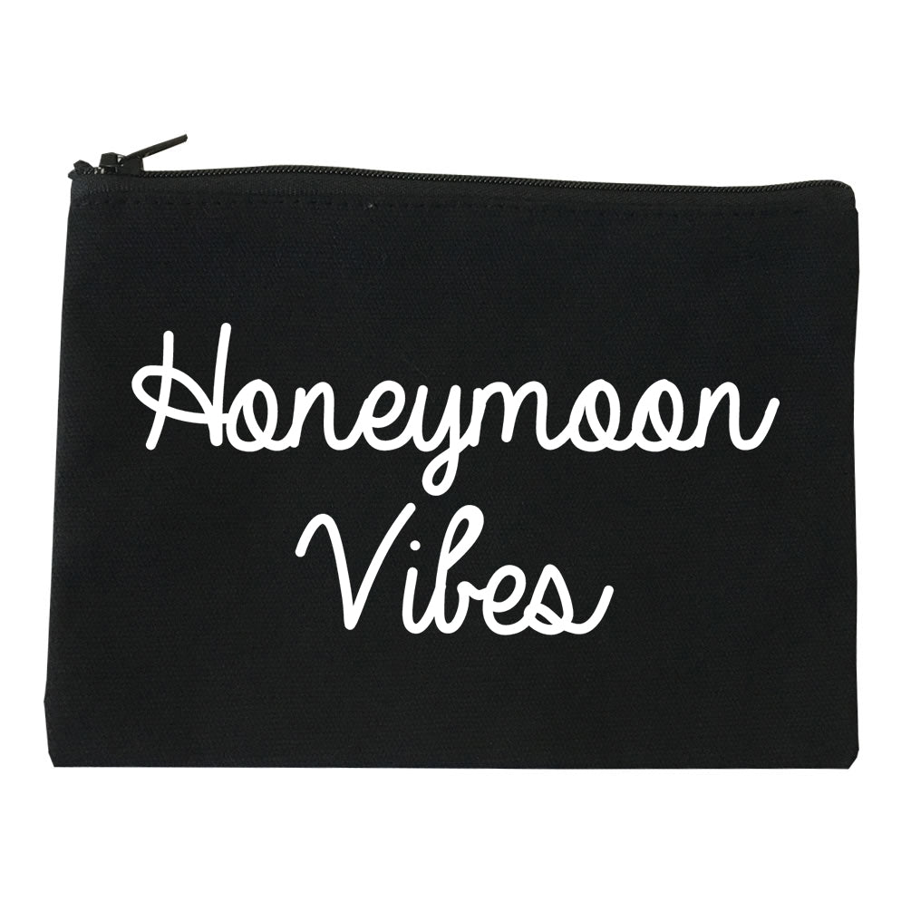 Honeymoon Vibes Bride black Makeup Bag