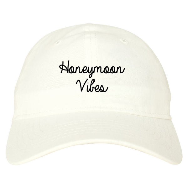 Honeymoon Vibes Bride white dad hat