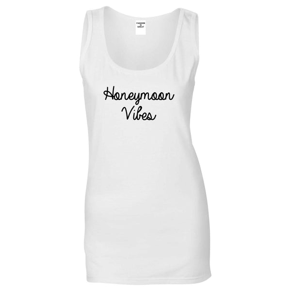 Honeymoon Vibes Bride White Womens Tank Top