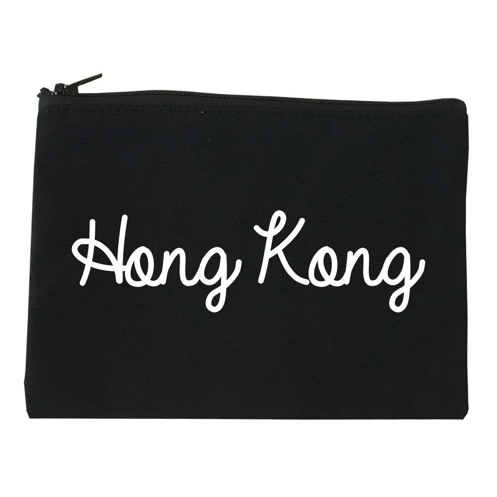 Hong Kong China Script Chest black Makeup Bag