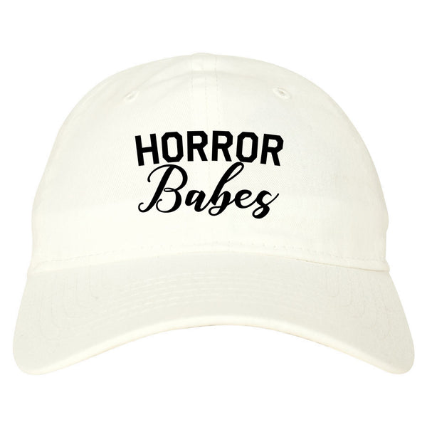 Horror Babes Halloween White Dad Hat