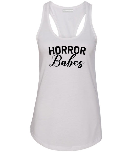 Horror Babes Halloween White Racerback Tank Top