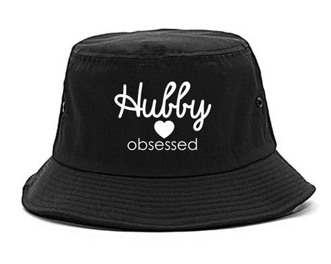 Hubby Obsessed Wife Bucket Hat Black
