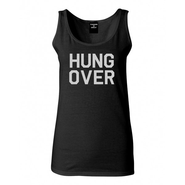Hungover Drinking Black Tank Top