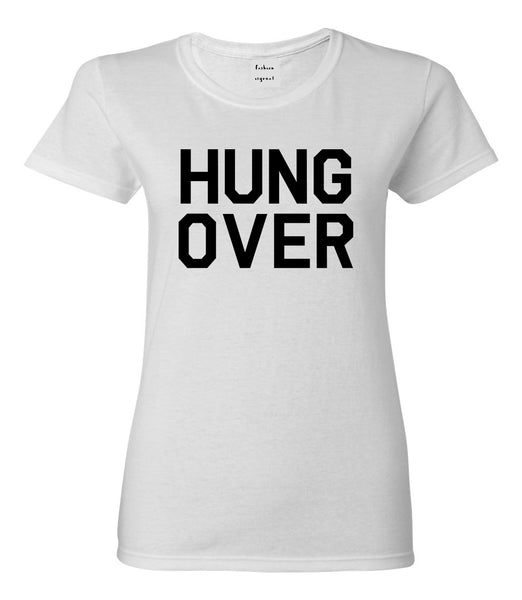 Hungover Drinking White T-Shirt