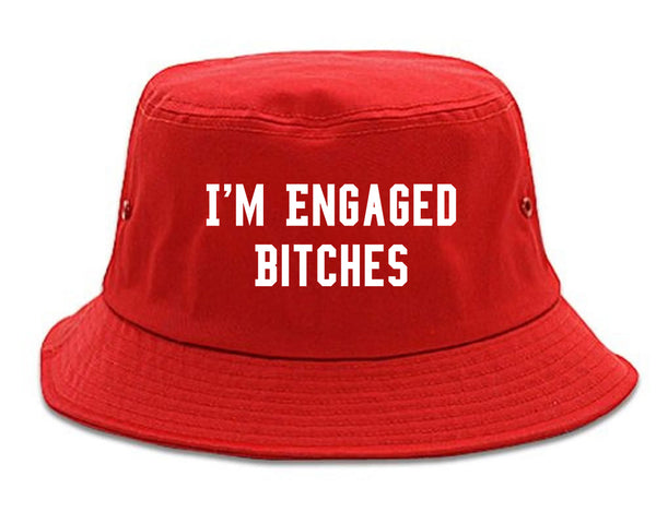 IM Engaged Bitches Bride red Bucket Hat