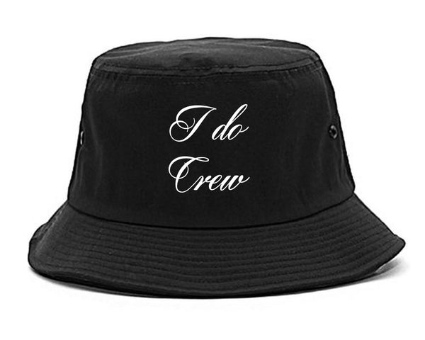 I Do Crew Bridal Party black Bucket Hat
