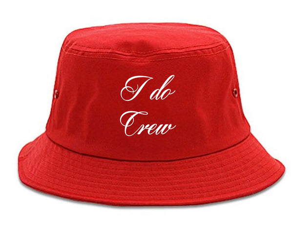 I Do Crew Bridal Party red Bucket Hat