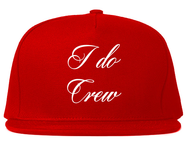 I Do Crew Bridal Party Red Snapback Hat