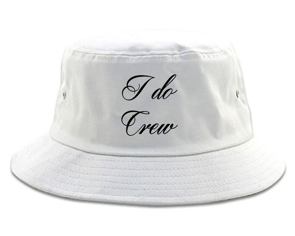 I Do Crew Bridal Party white Bucket Hat