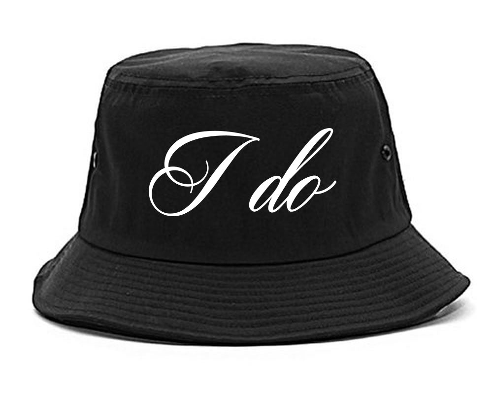 I Do Wedding Bride black Bucket Hat