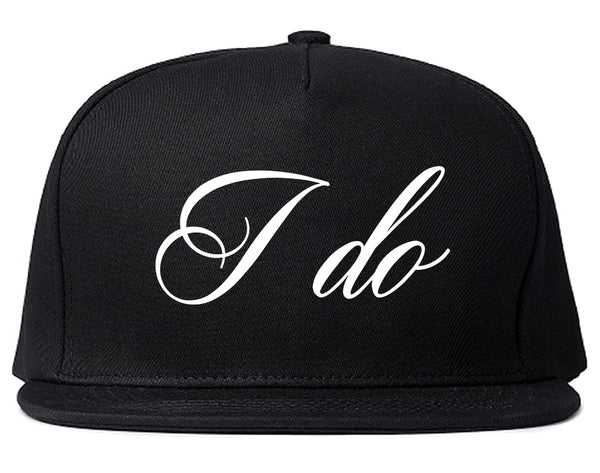 I Do Wedding Bride Black Snapback Hat