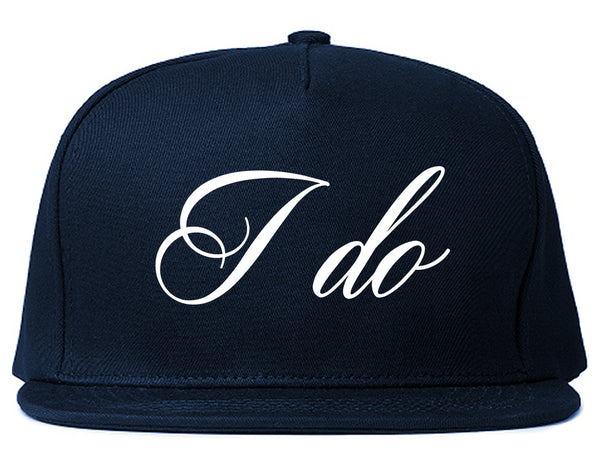 I Do Wedding Bride Blue Snapback Hat