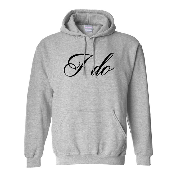 I Do Wedding Bride Grey Womens Pullover Hoodie