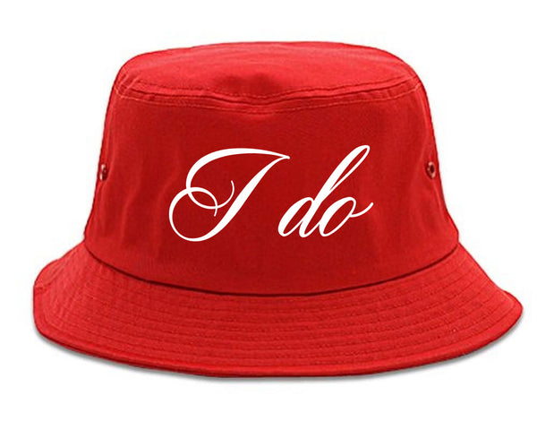 I Do Wedding Bride red Bucket Hat