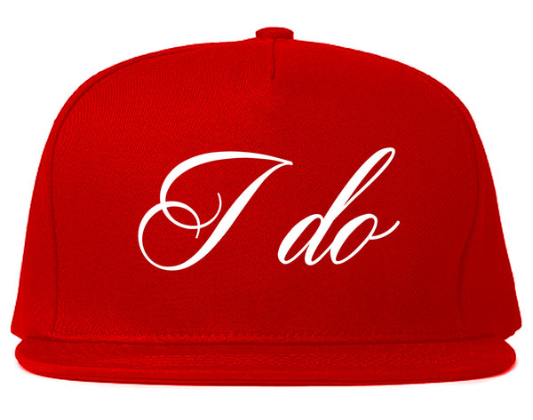 I Do Wedding Bride Red Snapback Hat