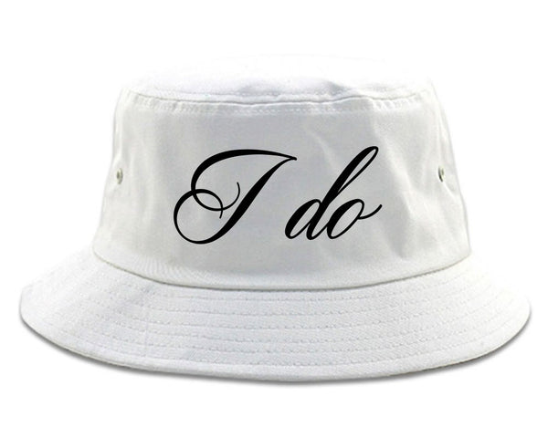I Do Wedding Bride white Bucket Hat