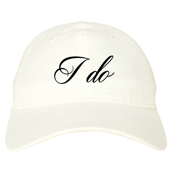 I Do Wedding Bride white dad hat