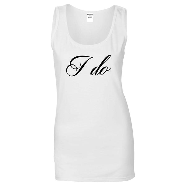 I Do Wedding Bride White Womens Tank Top