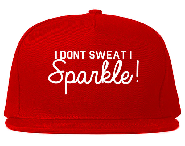 I Dont Sweat I Sparkle Snapback Hat Red