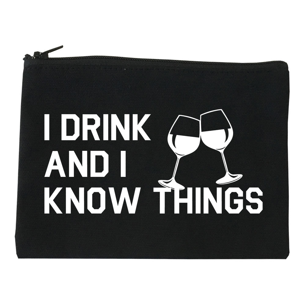 I Drink And I Know Things Black Makeup Bag