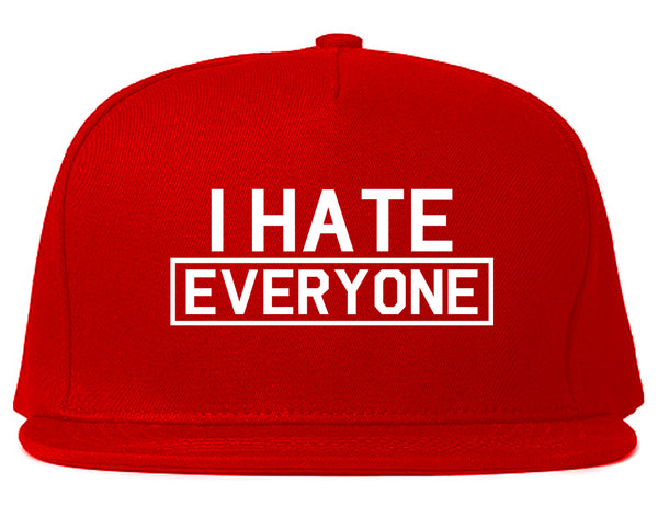 I Hate Everyone Goth Funny Snapback Hat Red