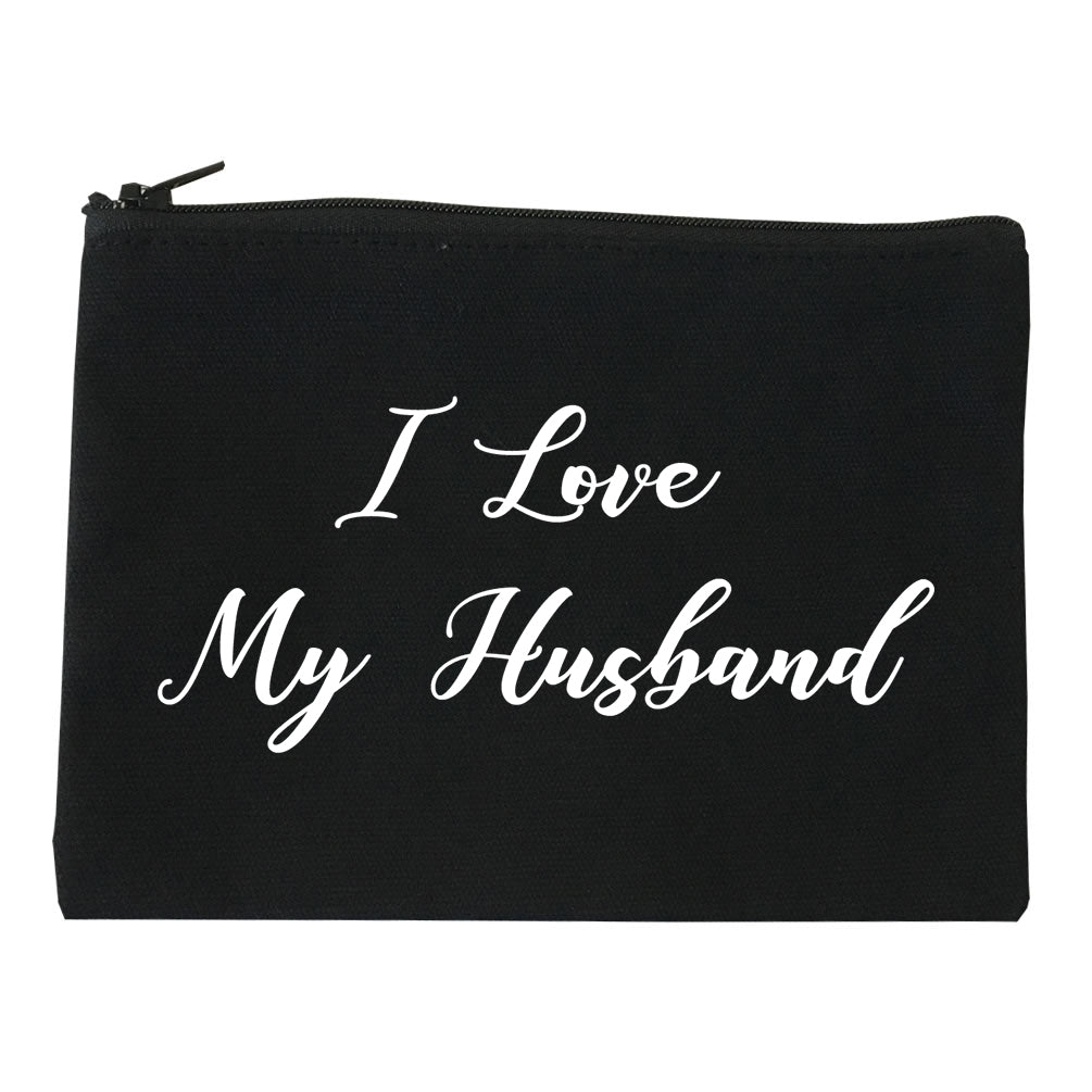 I Love My Husband Mom Gift black Makeup Bag