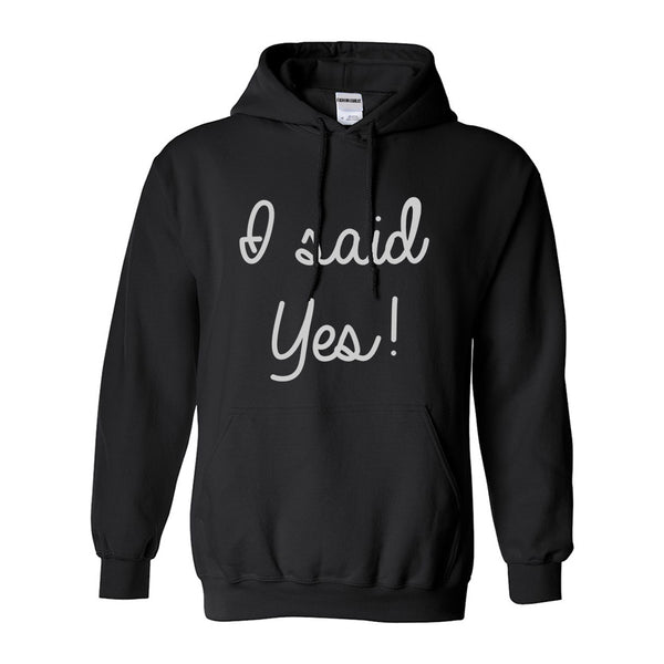 I Said Yes Bride Black Womens Pullover Hoodie