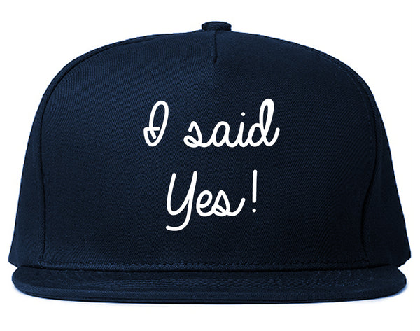 I Said Yes Bride Blue Snapback Hat