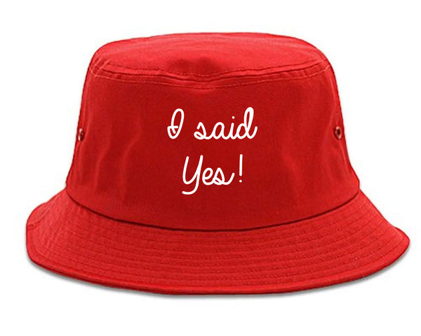 I Said Yes Bride red Bucket Hat