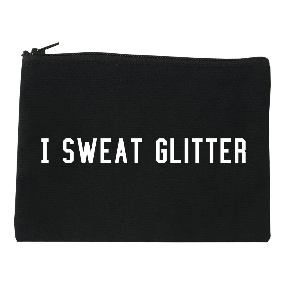 I Sweat Glitter Black Makeup Bag