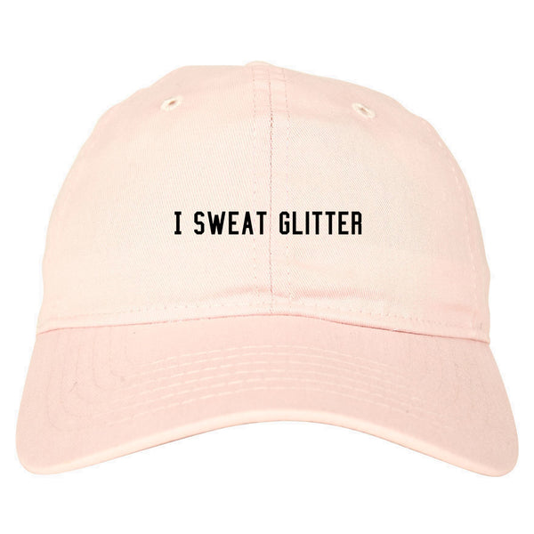 I Sweat Glitter Pink Dad Hat