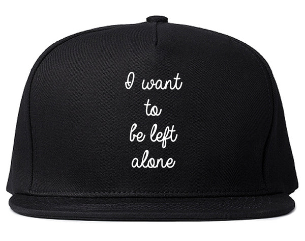 I Want To Be Alone Chest Black Snapback Hat