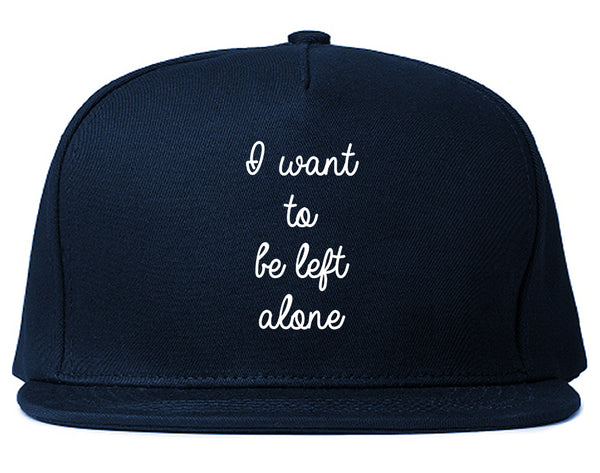 I Want To Be Alone Chest Blue Snapback Hat