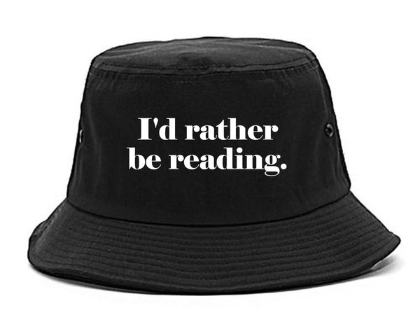 Id Rather Be Reading Book Lover black Bucket Hat