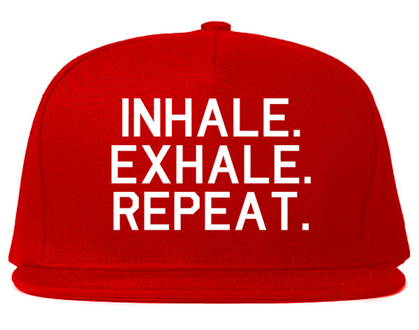Inhale Exhale Repeat Yoga Red Snapback Hat