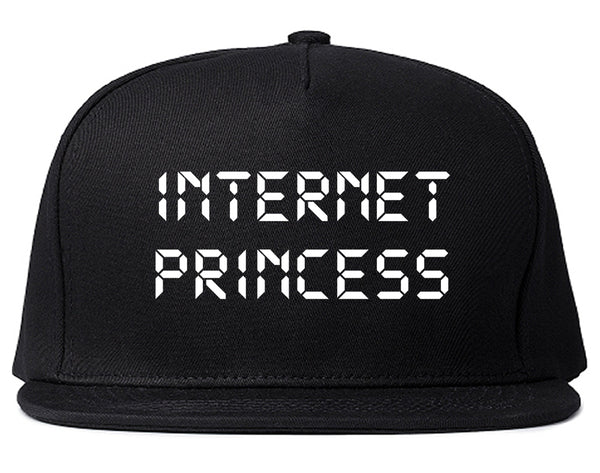 Internet Princess Wifi Black Snapback Hat