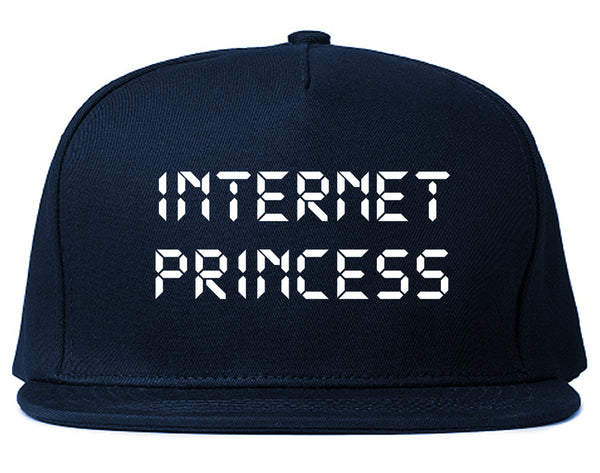 Internet Princess Wifi Blue Snapback Hat
