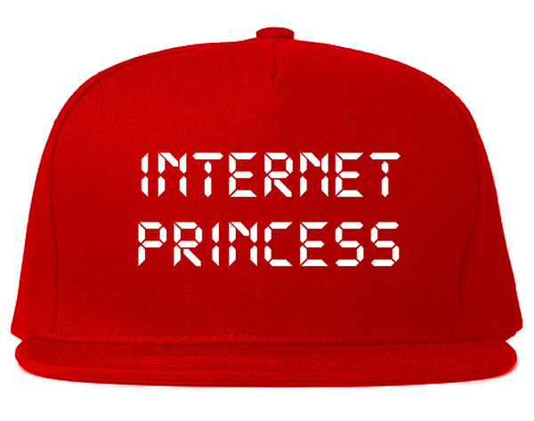 Internet Princess Wifi Red Snapback Hat