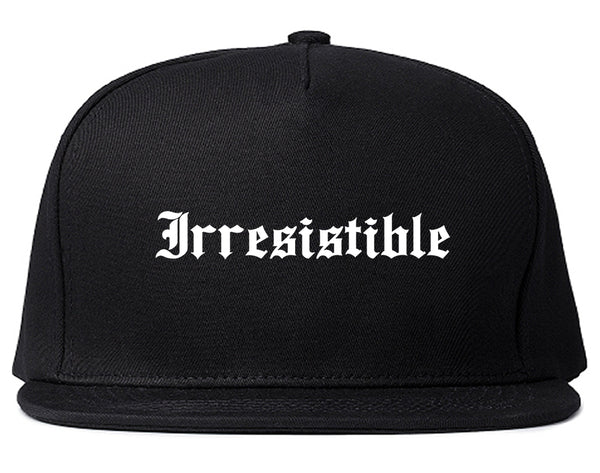 Irresistible Goth Graphic Snapback Hat Black