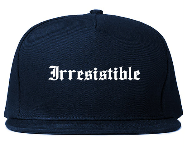 Irresistible Goth Graphic Snapback Hat Blue